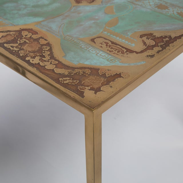 Rare Harvey Probber Acid-Etched and Patinated Bronze Sofa Table, Circa 1960s For Sale In New York - Image 6 of 13