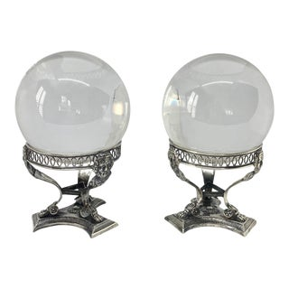 Late 19th Century Silver Neoclassical Salt Cellar Bases - a Pair For Sale