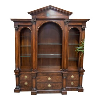 Henredon Traditional Mahogany Bookcase For Sale