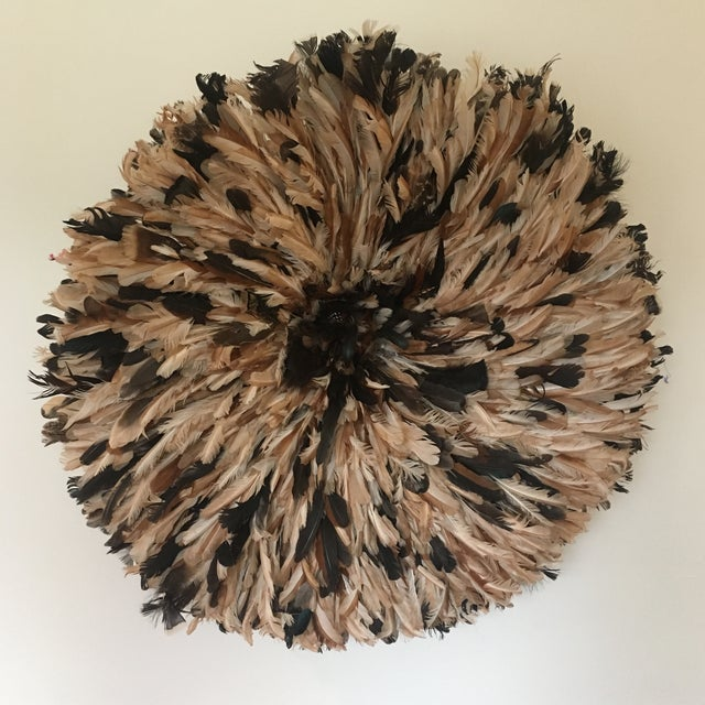Authentic Cameroon XL Natural Juju Hat Headdress For Sale - Image 5 of 5