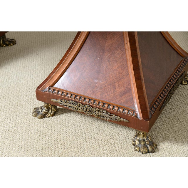 Regency Style Granite Top Oversize Library Table With Bronze Claw Feet For Sale - Image 11 of 12
