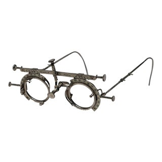 Late 19th Century Metal and Enamel Adjustable Optometrist Eye Exam Glasses