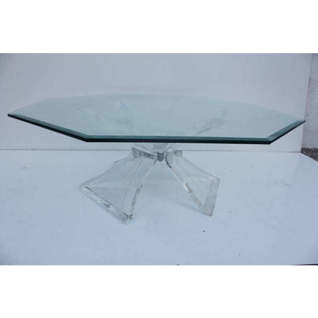 Vintage Triple Butterfly Base Coffee Table For Sale In Miami - Image 6 of 8