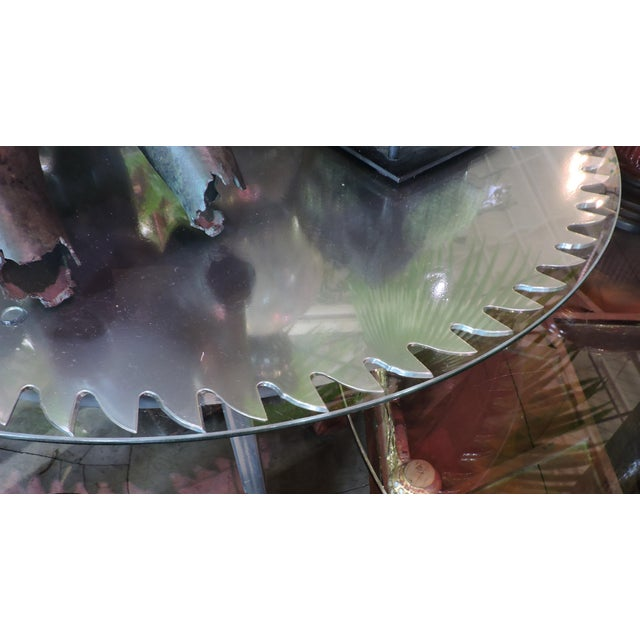 Anonymous Glass Topped Saw Table For Sale - Image 4 of 6
