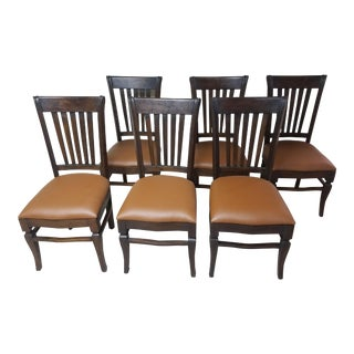 Teak Wood Classic Dining Chairs - Set of 6 For Sale