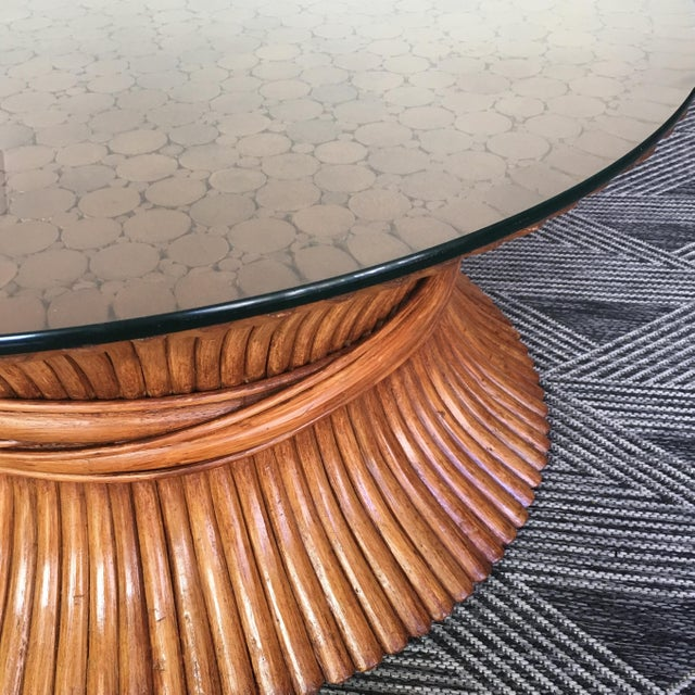Art Nouveau McGuire Sheaf of Wheat Bamboo Coffee Table For Sale - Image 3 of 5
