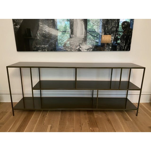 Metal Room & Board Foshay Powder Coated Metal Shelving Unit For Sale - Image 7 of 7