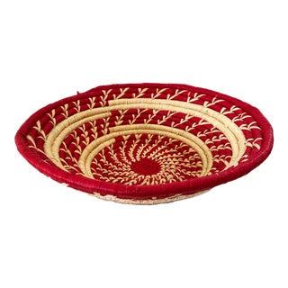 Handmade Woven East African Burundi Basket For Sale