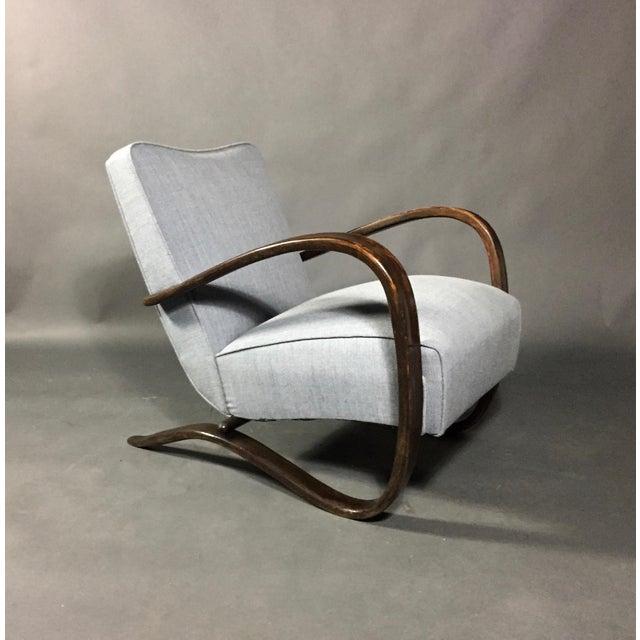Bauhaus Jindřich Halabala Lounge Chair, Czech Republic, 1930s For Sale - Image 3 of 11