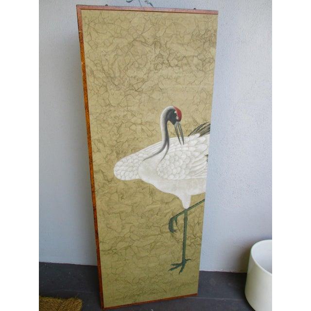 Asian Modern Chinoiserie Folding Screen - Image 8 of 11