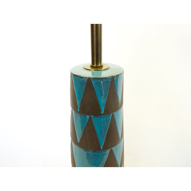 Raymor Turquoise Triangle Lamp - Image 6 of 6