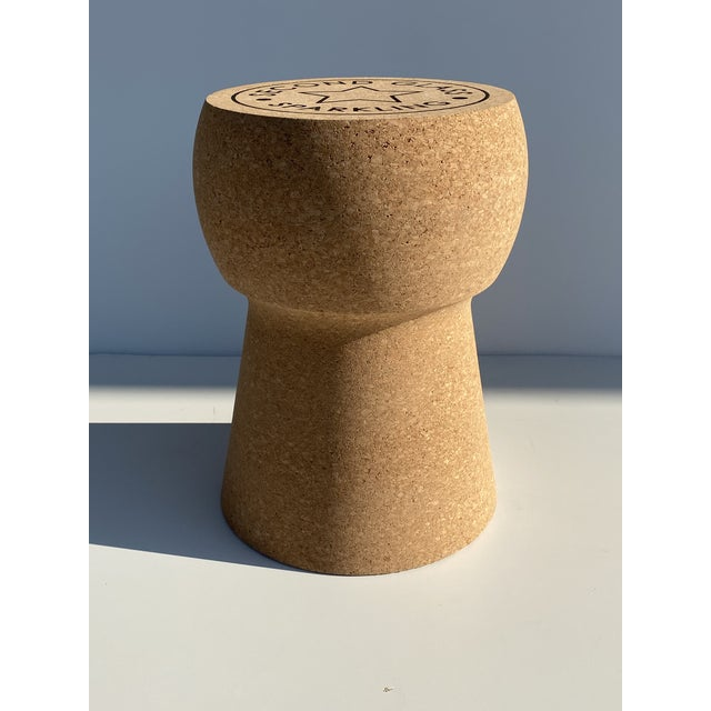Paul Frankl Champagne Cork Stool/Side Table For Sale - Image 4 of 13