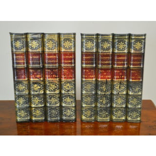 Maitland Smith Pair Leather Bound Faux Book Facades (B) Preview