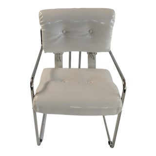 Vintage Patent Leather Tucroma Chairs by Mariani for Pace Collection For Sale