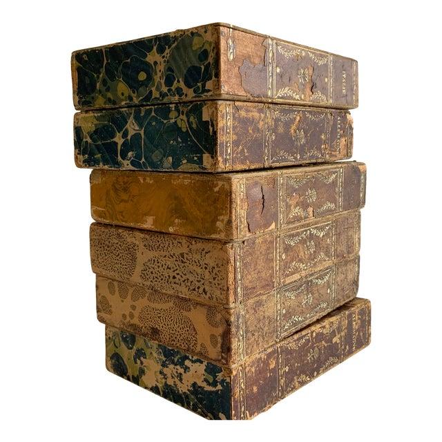 Antique Italian Faux Book Boxes For Sale