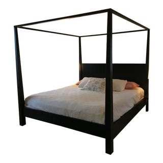 Crate & Barrel Pavilion King Canopy Bed For Sale
