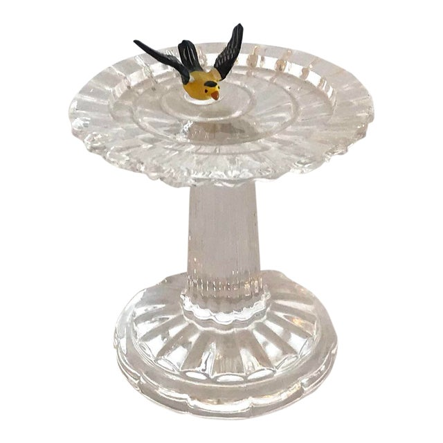 Vintage Waterford Crystal Birdbath For Sale