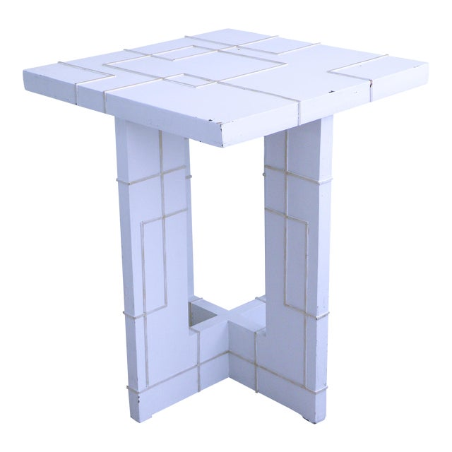 Art Nouveau Table Fretwork High Accent Dining Table For Sale