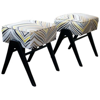 Mid-Century Modern Stools or Ottomans, Italy, 1950s, Pair For Sale