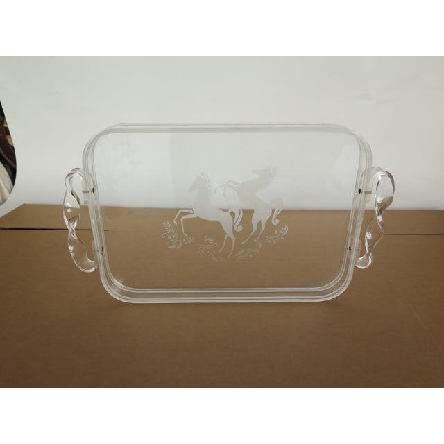 1970s 1970's Plexiglas Tray For Sale - Image 5 of 5