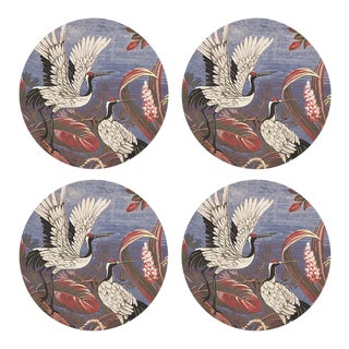 "Summer Palace Ducal, 16"" Round Pebble Placemats, Set of 4 For Sale"