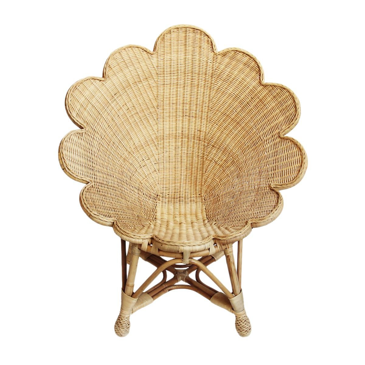 Rattan Natural Shell Chair   Image 2 Of 6