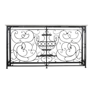 French 19th Century Iron Console Table For Sale
