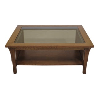 Stickley Mission Oak Spindled Sides Coffee Table For Sale