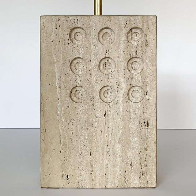 1960s Italian Travertine Table Lamp by Reggiani for Raymor For Sale - Image 5 of 12