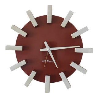 Rare Vintage 1960's Seth Thomas Starburst Wall Clock For Sale