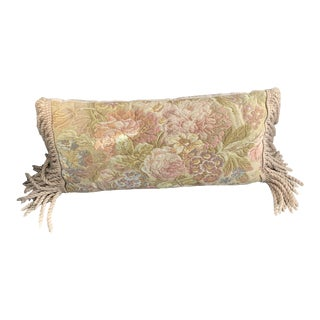 Light Coral and Cream Tapestry Pillow For Sale