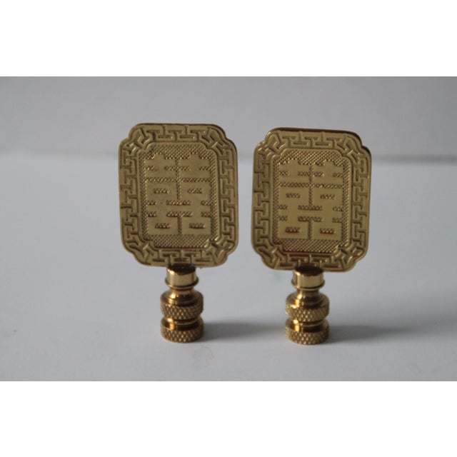 Asian Style Brass Lamp Finials - A Pair - Image 2 of 4