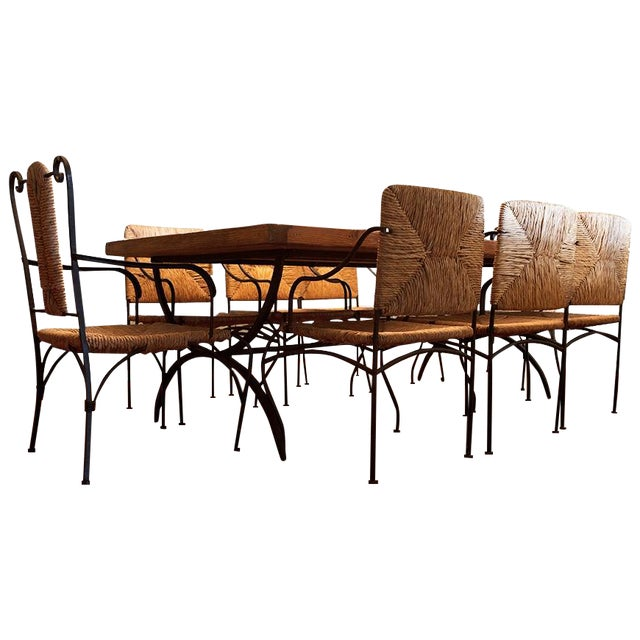 Rustic Reclaimed Wood Dining Set - Image 1 of 3
