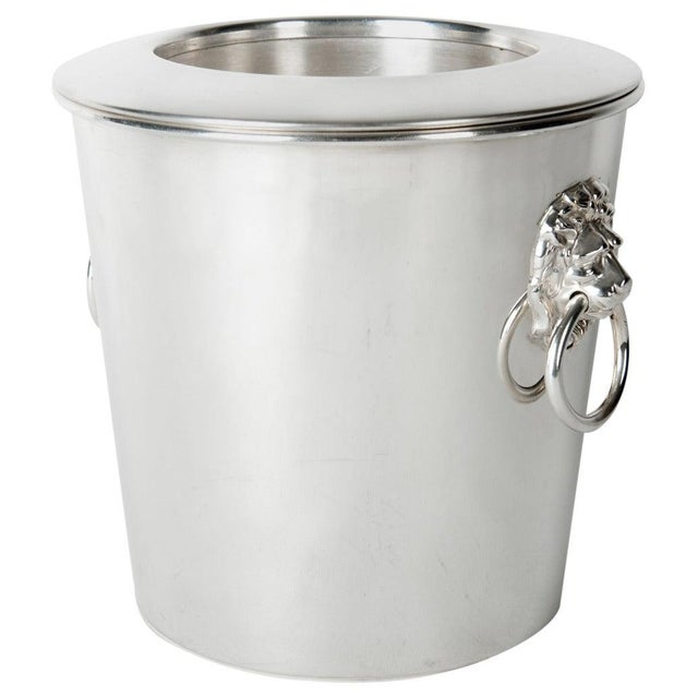 Vintage English Silver Plated Wine Cooler / Ice Bucket For Sale In New York - Image 6 of 6