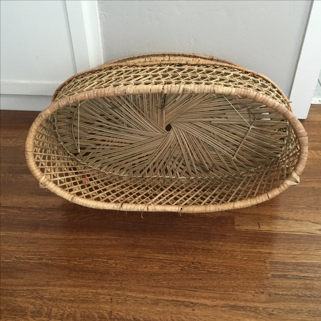 Vintage Child's Wicker Bench - Image 6 of 6