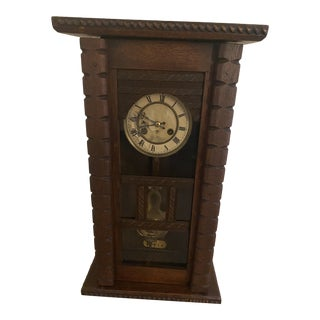 Antique Mid 19th Century Walnut Wall Clock For Sale