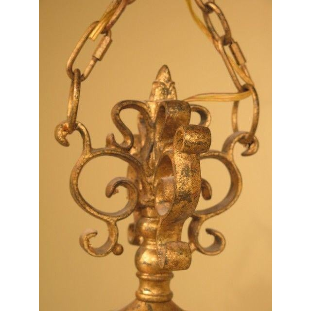 Chelsea House Inc Chelsea House Venetian Decorated Iron 6 Light Island Chandelier For Sale - Image 4 of 8