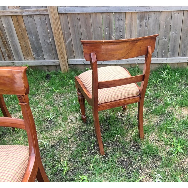 20th Century Reproduction Mahogany Empire Style Dining Room Chairs - Set of 6 For Sale - Image 12 of 13