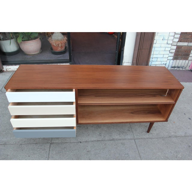 Wood Mid-Century Style Walnut Credenza For Sale - Image 7 of 11