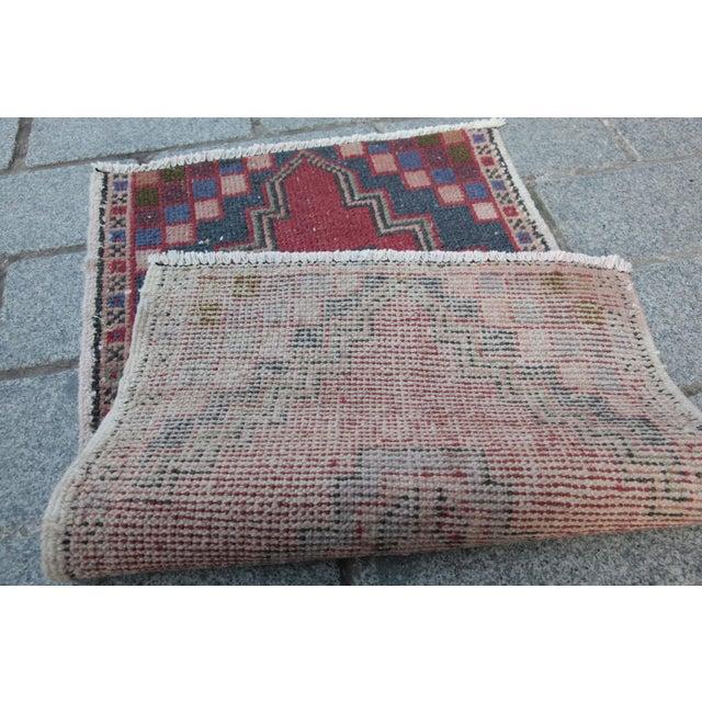 Turkish Nomadic Wool Carpet - 1′8″ × 2′10″ - Image 8 of 9