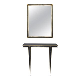 Mid-Century Italian Console and Mirror