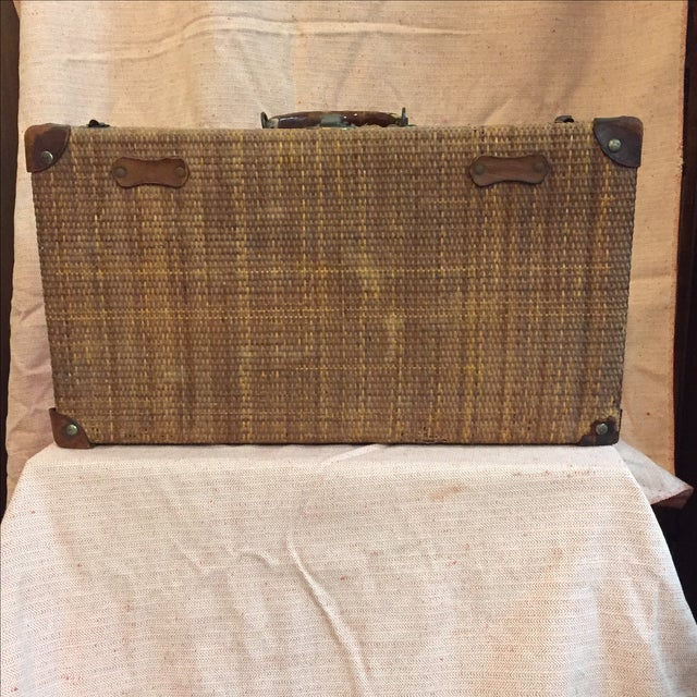 Rattan Suitcase For Sale In New York - Image 6 of 11
