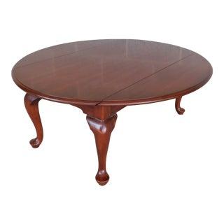 """Henkel Harris Cherry Queen Anne Drop Side Coffee Table 41.5""""w For Sale"""