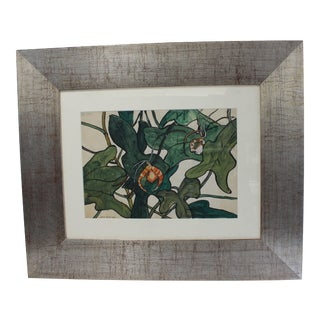 "Vintage Jane Peterson Watercolor Painting ""Spider Orchid"" For Sale"