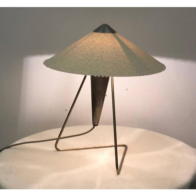 Metal Czech Modernist Table Lamp by Helena Frantova for Okolo, 1950s For Sale - Image 7 of 11