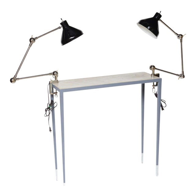 1940s Architectural Clamp Lamp For Sale