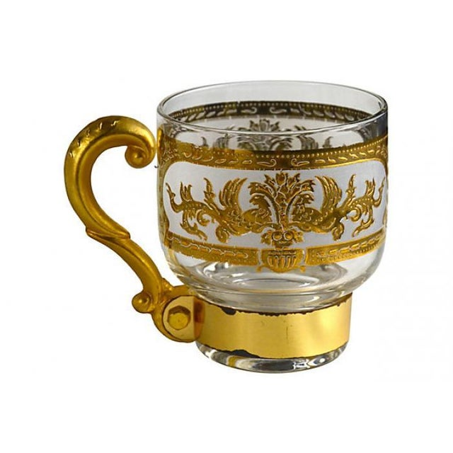 Italian Golden Pitcher & Three Mugs - Image 3 of 7