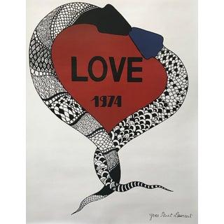 1974 Original Fashion Poster, Yves Saint Laurent, Love For Sale