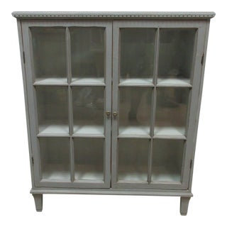 Swedish Gustavian Glass Door Cabinet For Sale