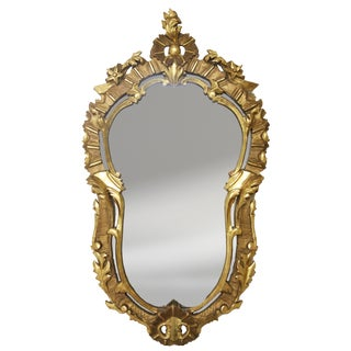 Antique Water Gilt Floral Design Mirror For Sale